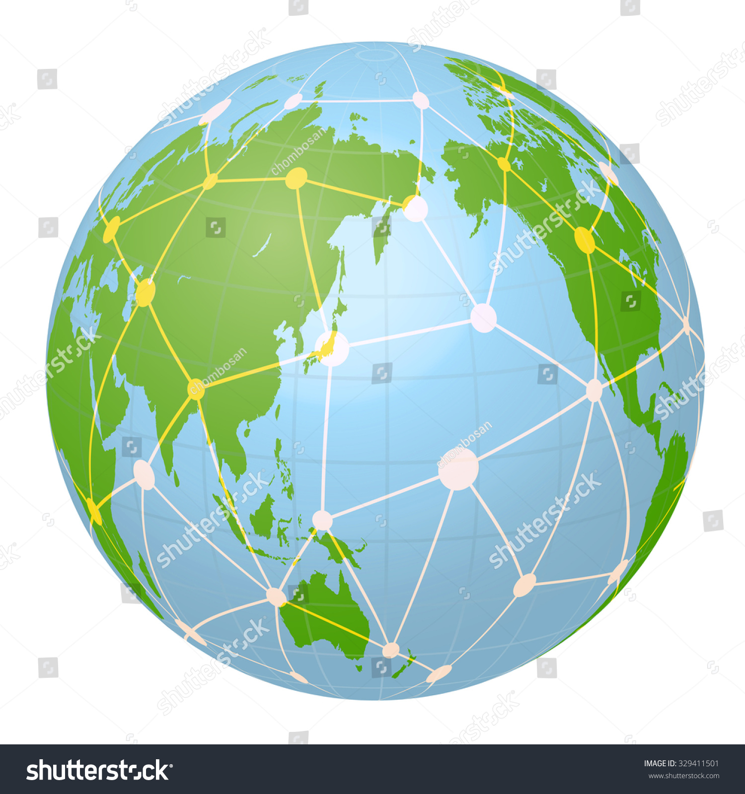 Pseudo Earth That Contains Whole World Stock Vector (Royalty ...