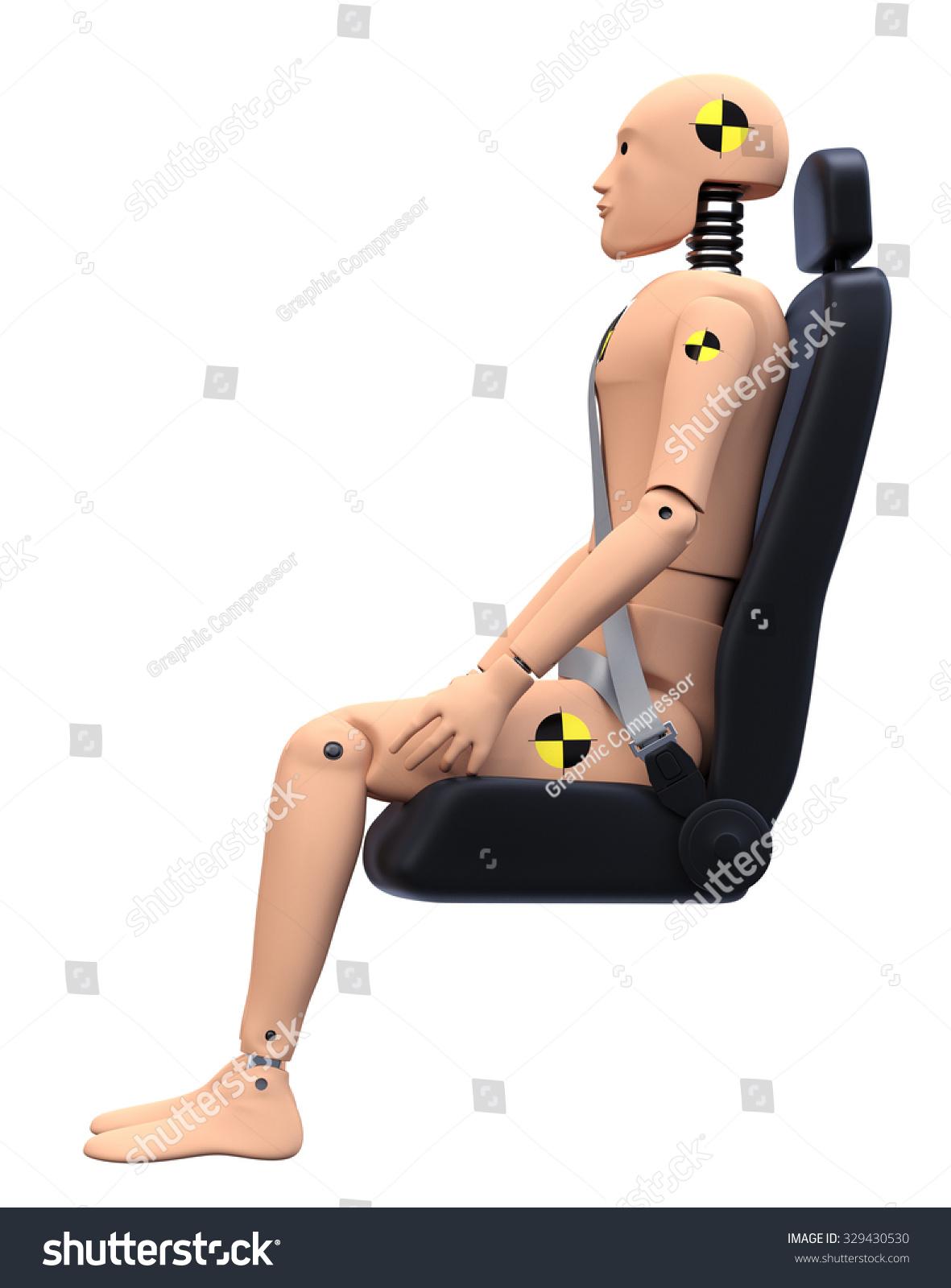 crash test dummy car seat side stock illustration 329430530 shutterstock. Black Bedroom Furniture Sets. Home Design Ideas