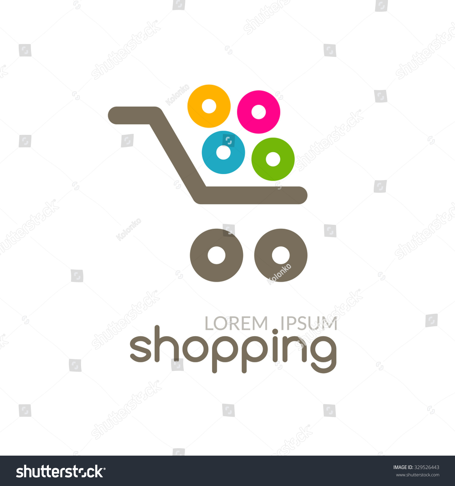 Online shop mall market concept cart stock vector Create a blueprint online