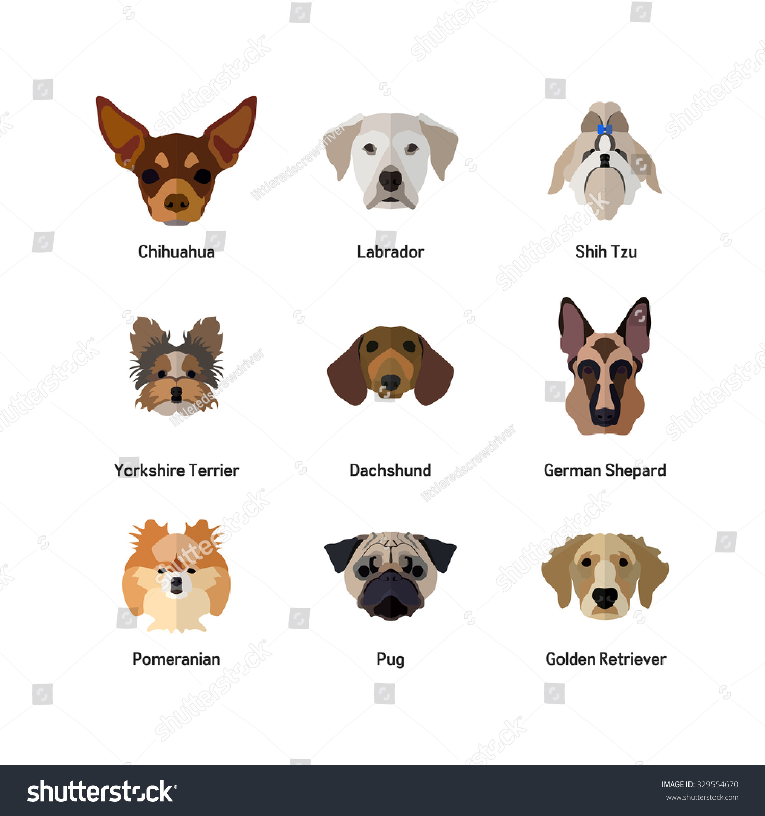 Dog Icon Flat Style Golden Retriever Stock Vector ... Raccoon Face Clip Art Black And White