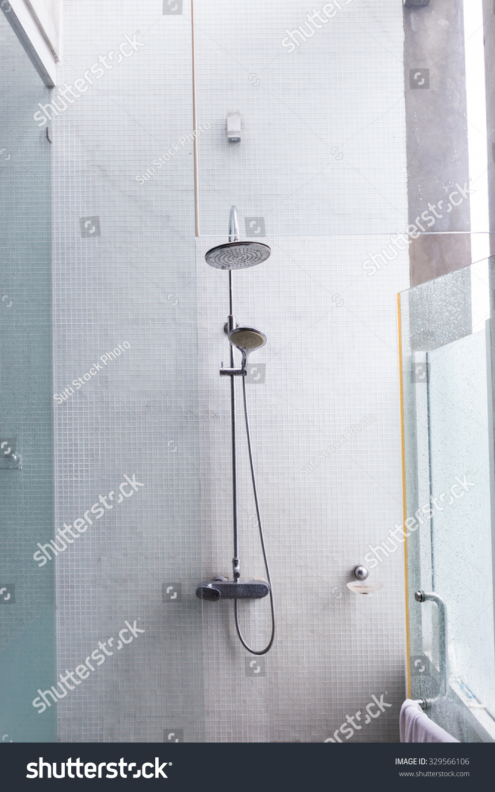 Shower Head Bathroom Design Home Interior Stock Photo & Image ...