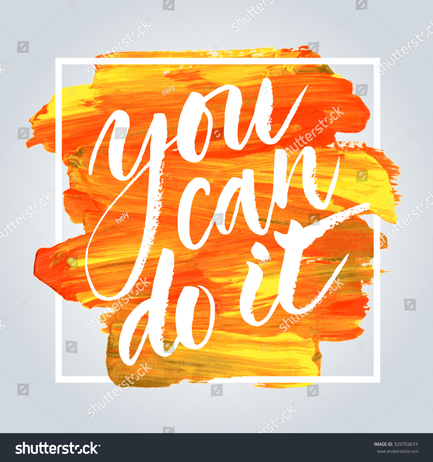 Inspirational Quote You Can Do It Stockvector Rechtenvrij