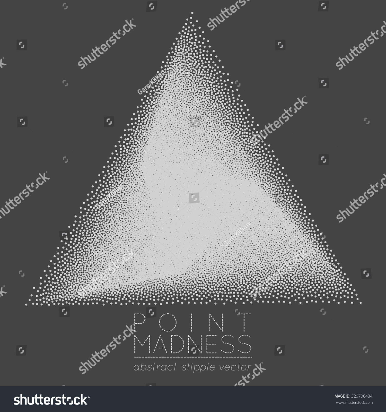 Vector illustration abstract dotted symbol delta stock vector vector illustration of abstract dotted symbol delta fading outside sacred geometry sign made in stippling biocorpaavc Choice Image