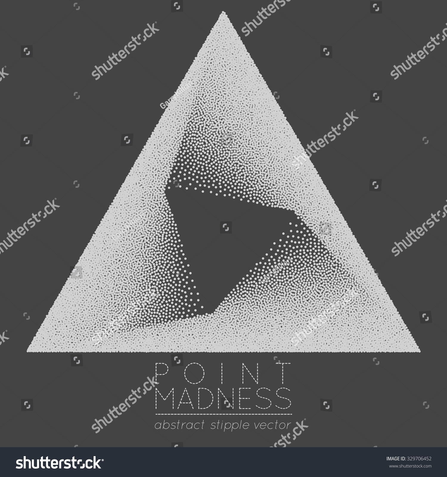 Vector illustration abstract dotted symbol delta stock vector vector illustration of abstract dotted symbol delta fading inside sacred geometry sign made in stippling biocorpaavc Choice Image
