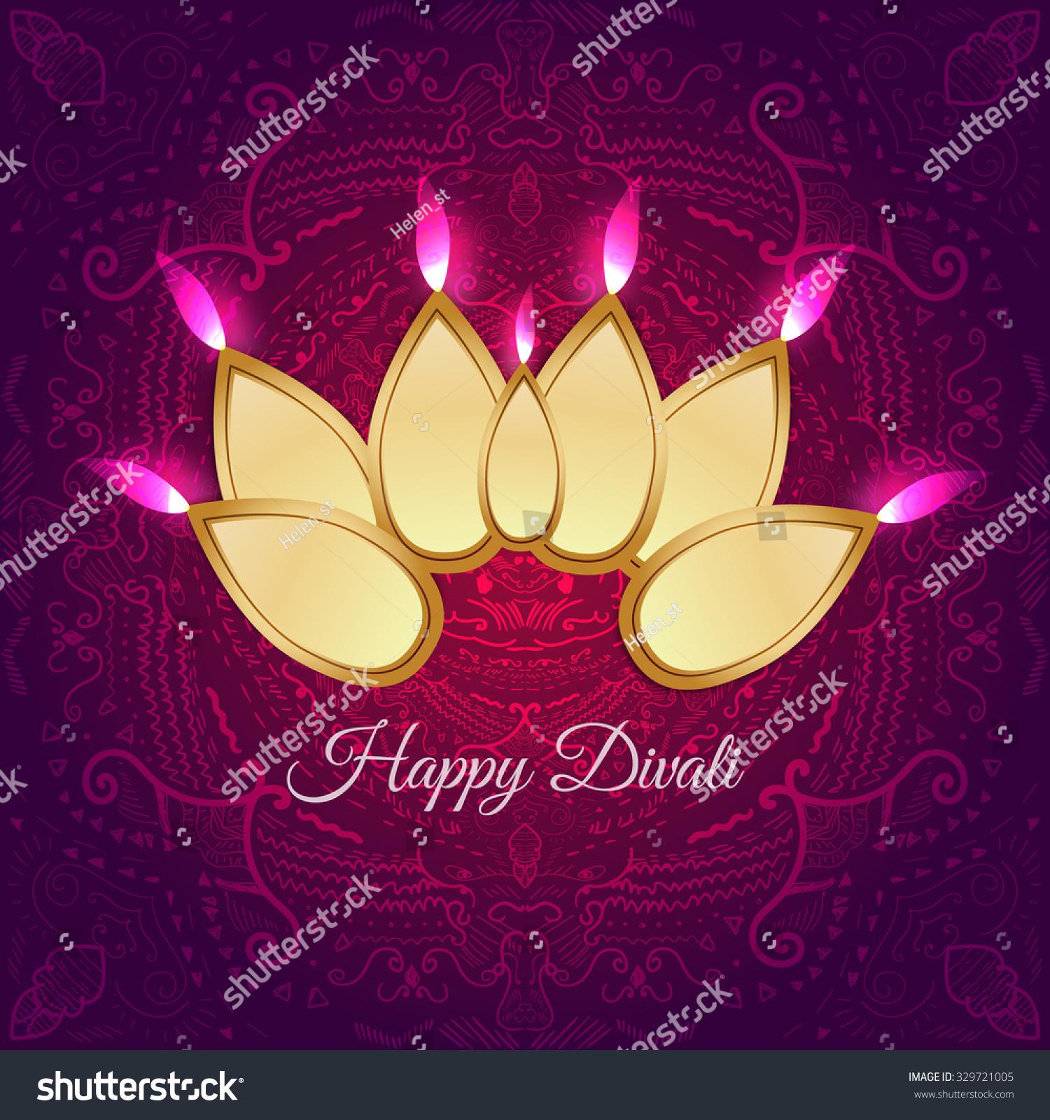 Modern Indian Festival Diwali Card Design Stock Vector (Royalty Free ...