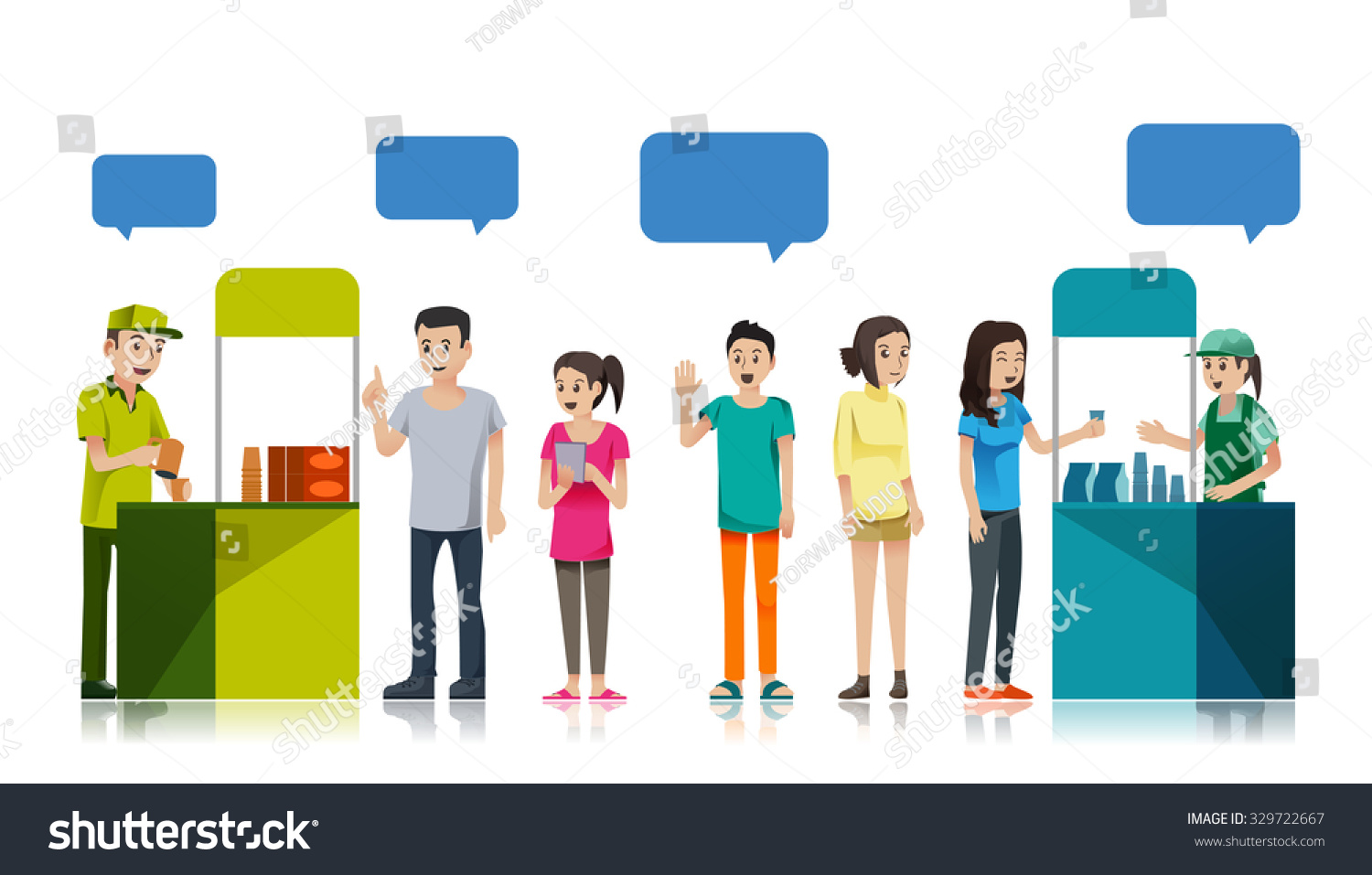 people queue get sample product stock vector 329722667 people queue to get sample product promotion counter at store campaign for supermarket