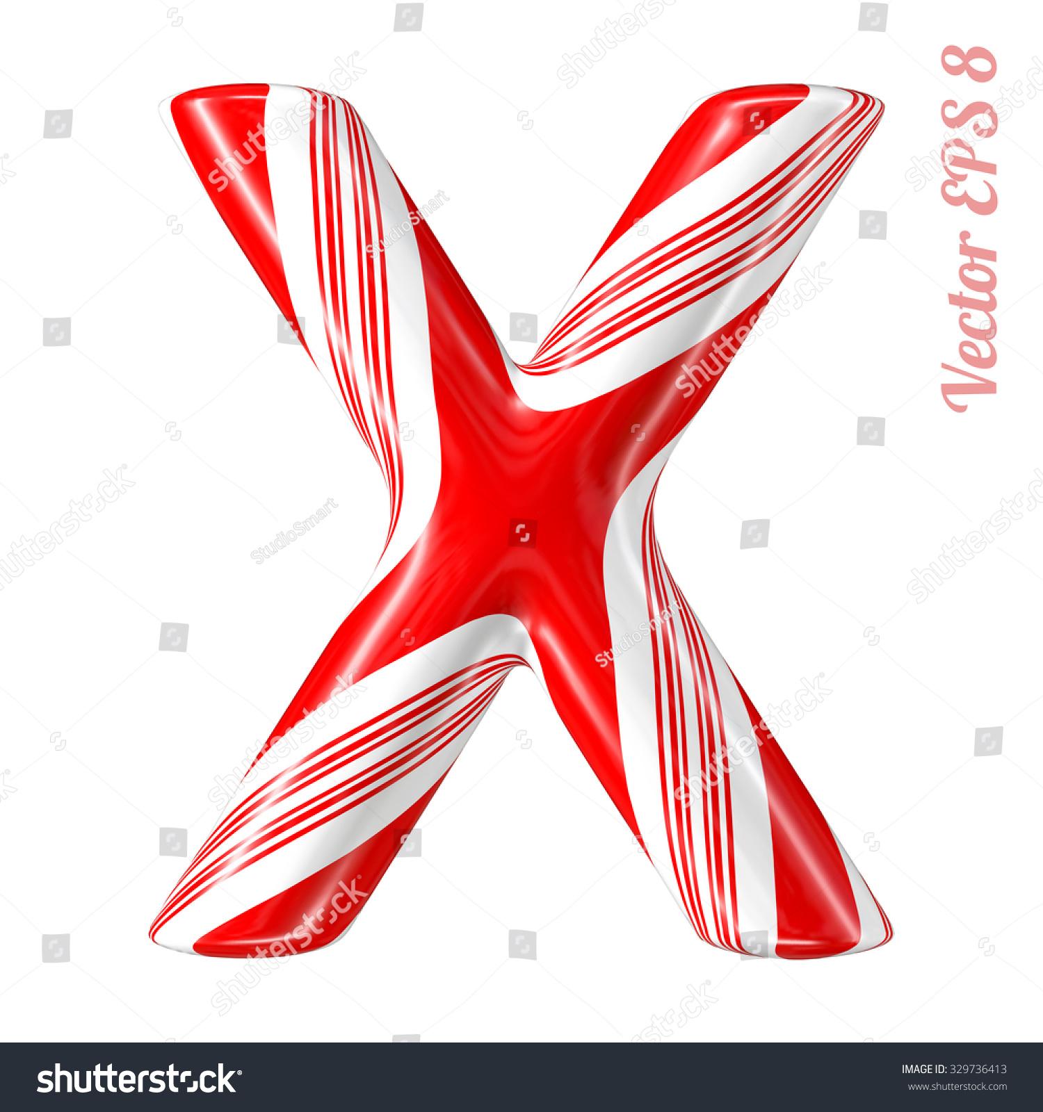 Letter X Christmas Symbols Stock Vector 142675243 - Shutterstock