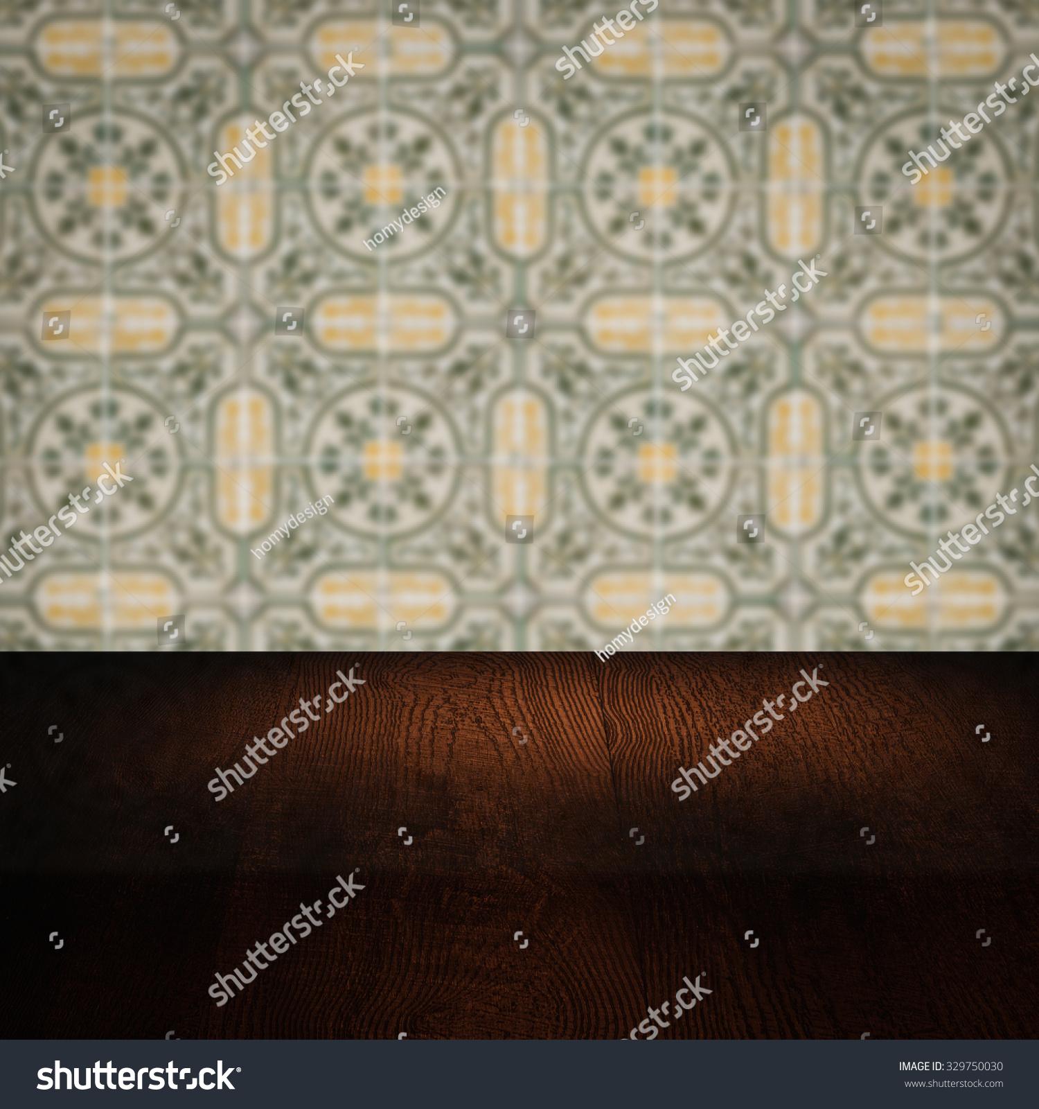 empty wood table top blur vintage stock photo edit now 329750030