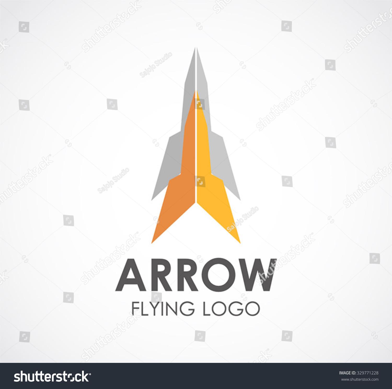 Arrow Plane Fly Abstract Vector Logo Stock Vector 329771228 ...