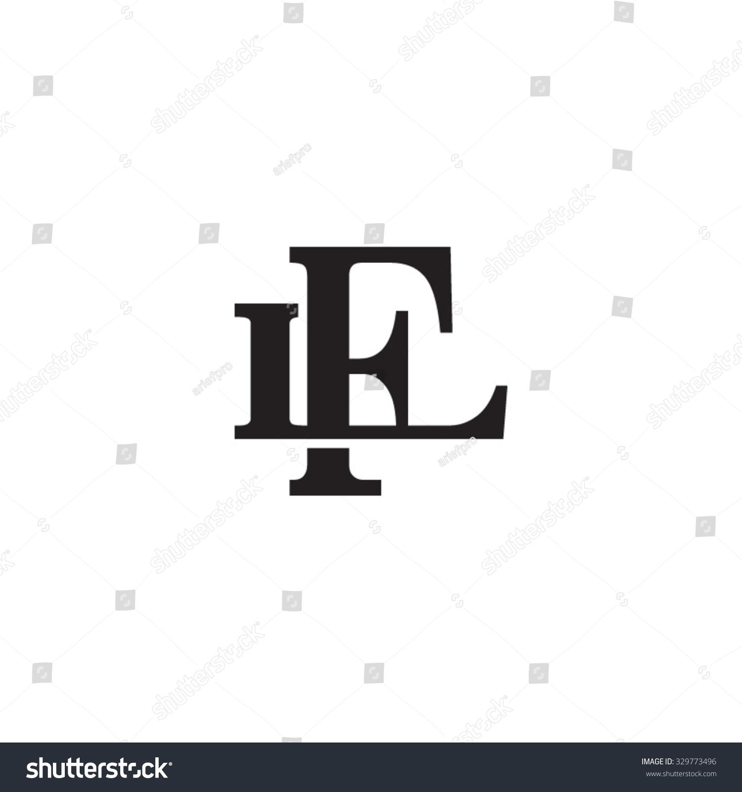 letter l f monogram logo stock vector 329773496 shutterstock