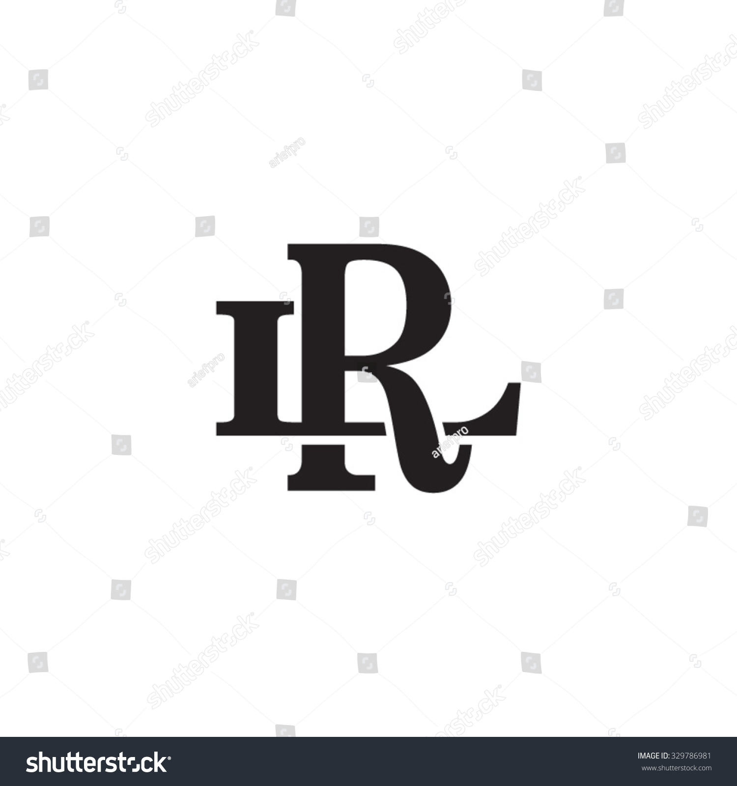letter l r monogram logo stock vector 329786981 shutterstock