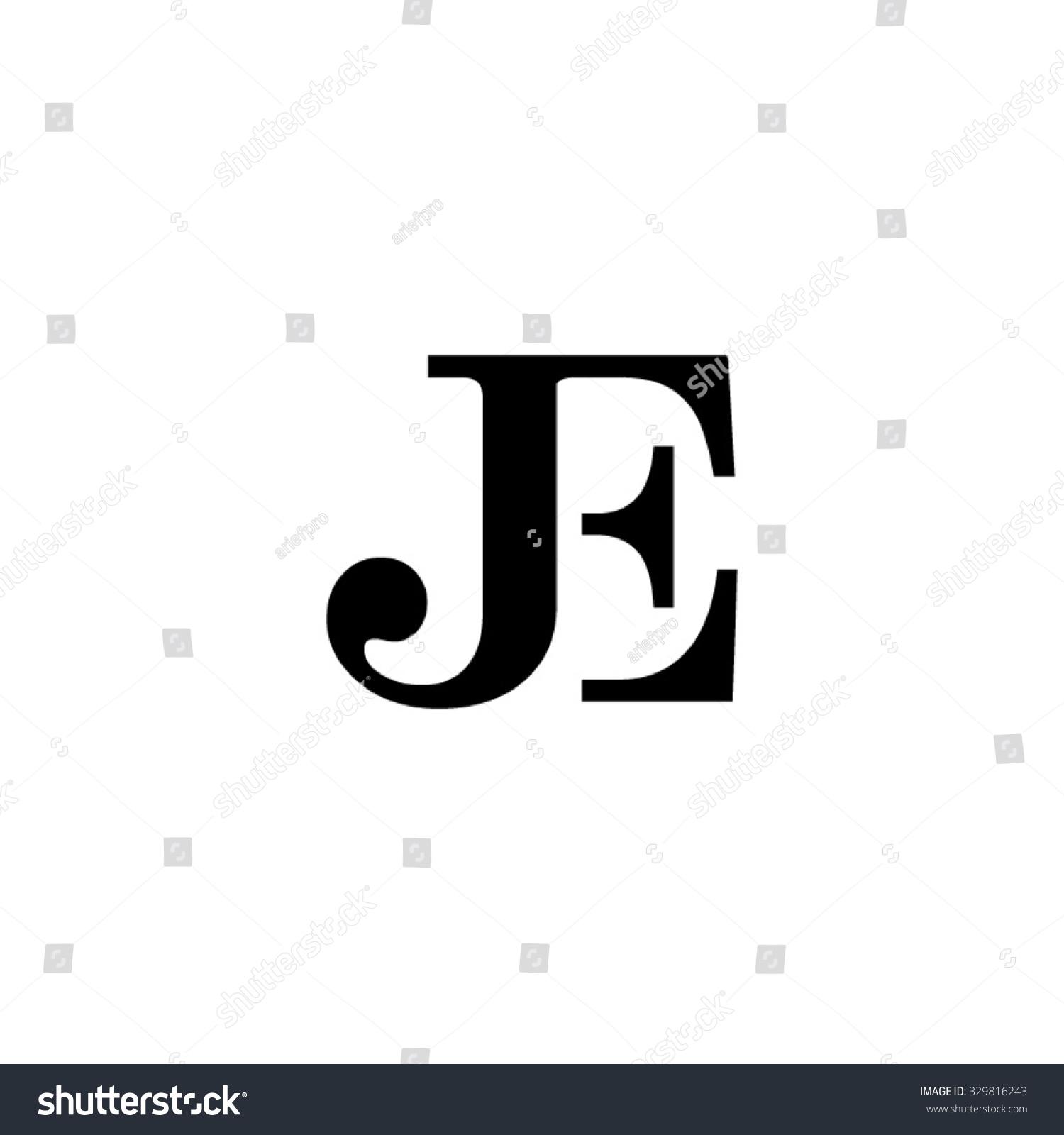 Tj initial luxury ornament monogram logo stock vector - Je Initial Monogram Logo