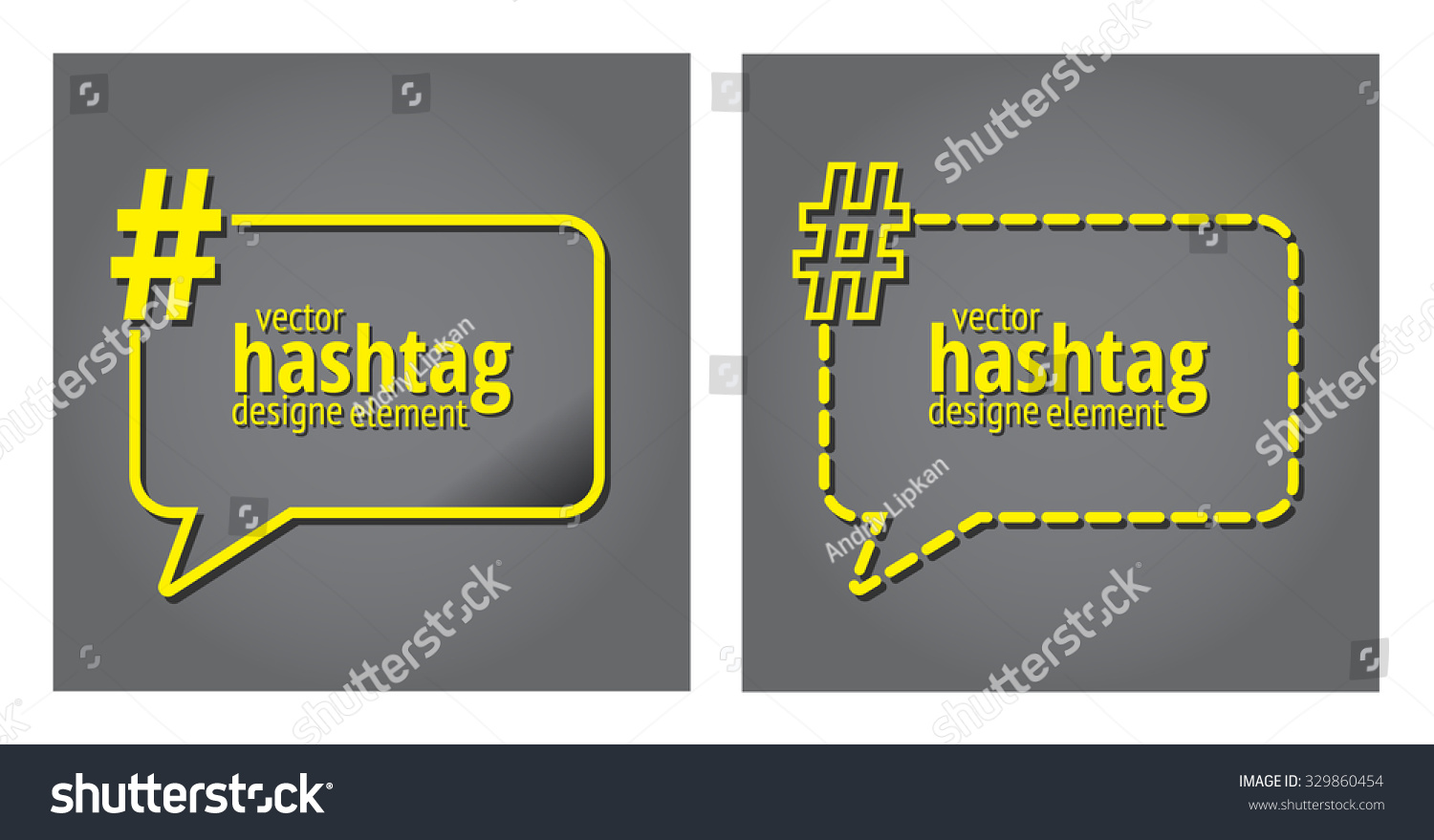 Hashtag Template Quote Text Bubble Print Stock Vector 329860454 ...