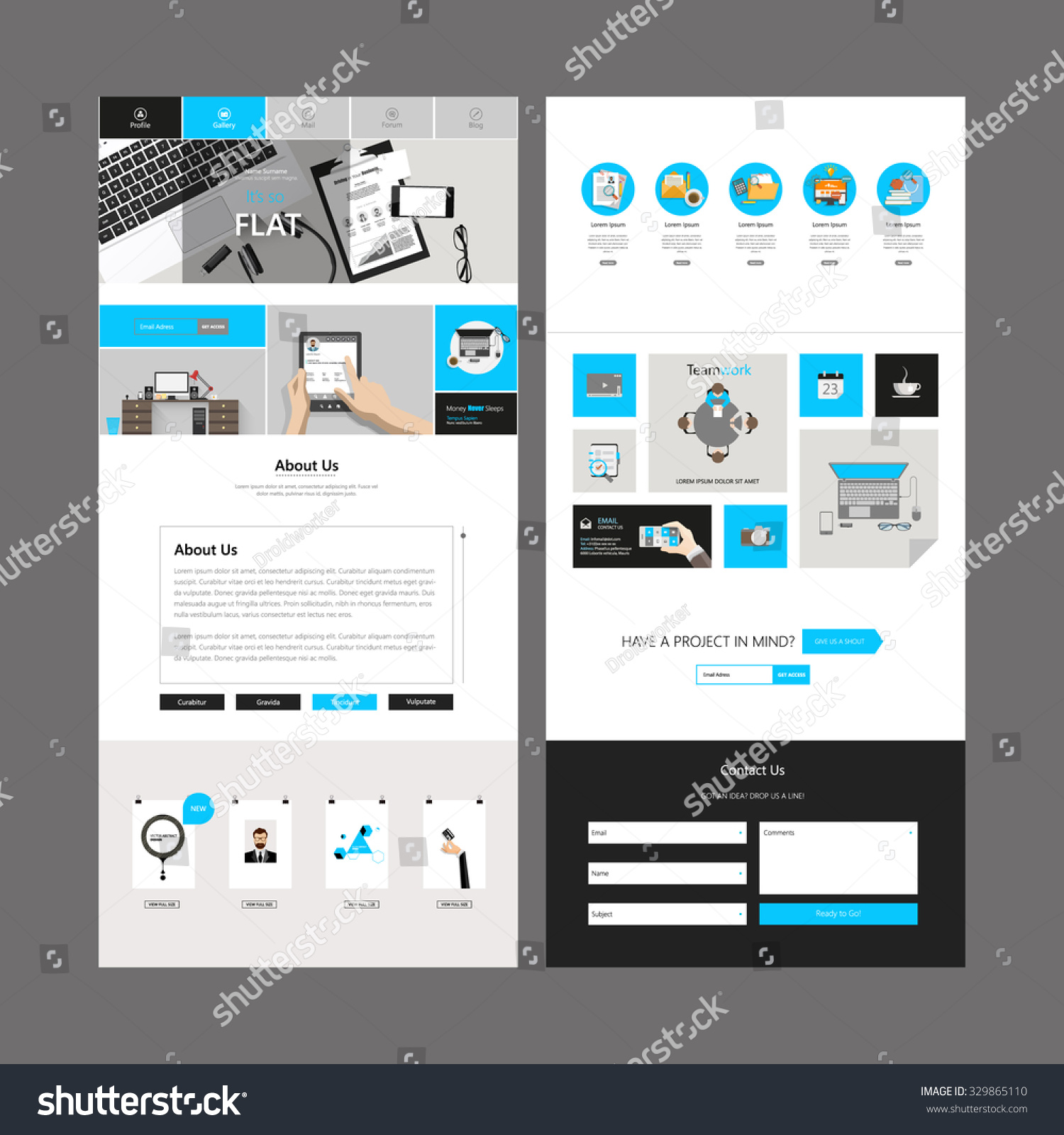 one page business website