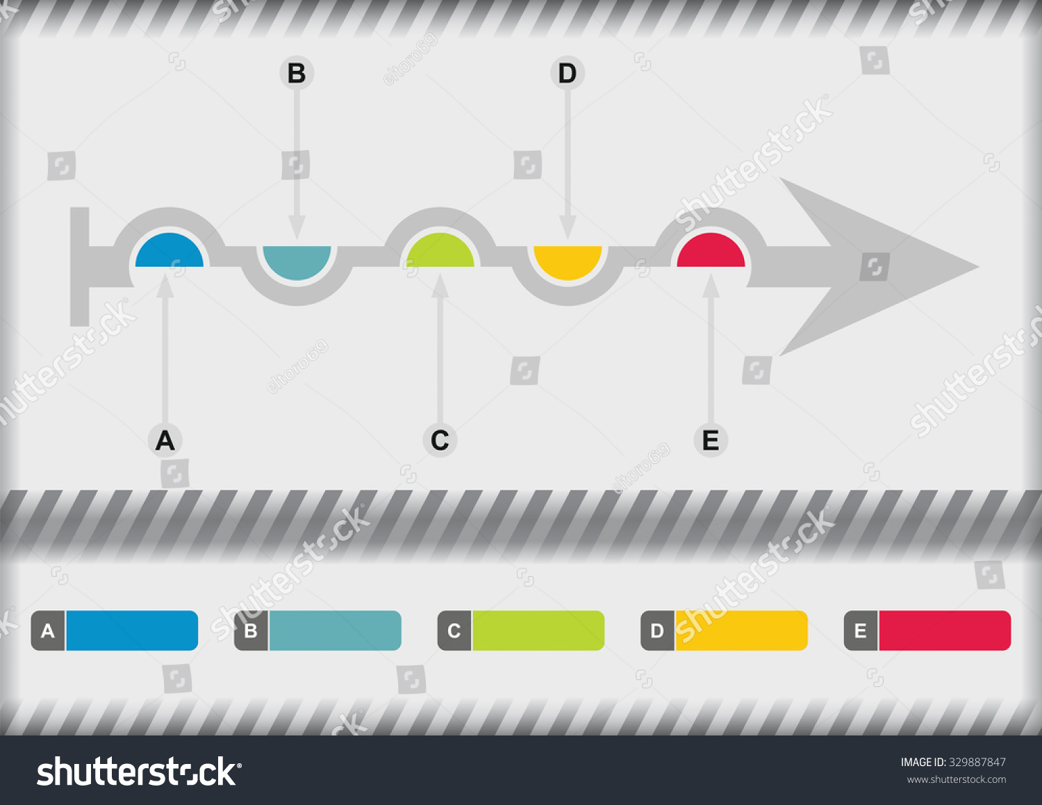 Vector flow chart template color arrows stock vector 329887847 vector flow chart template with color arrows geenschuldenfo Image collections