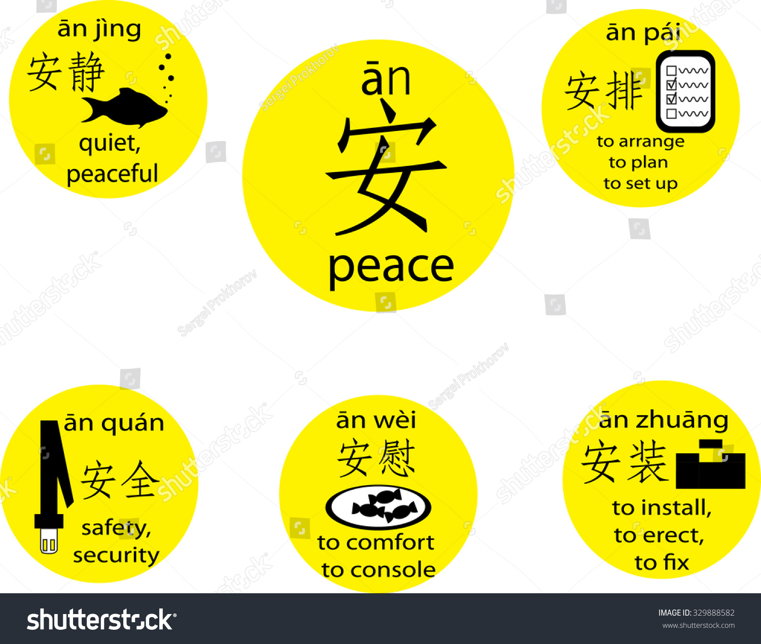 5th Level Chinese Proficiency Examination Card Stock Vector Royalty