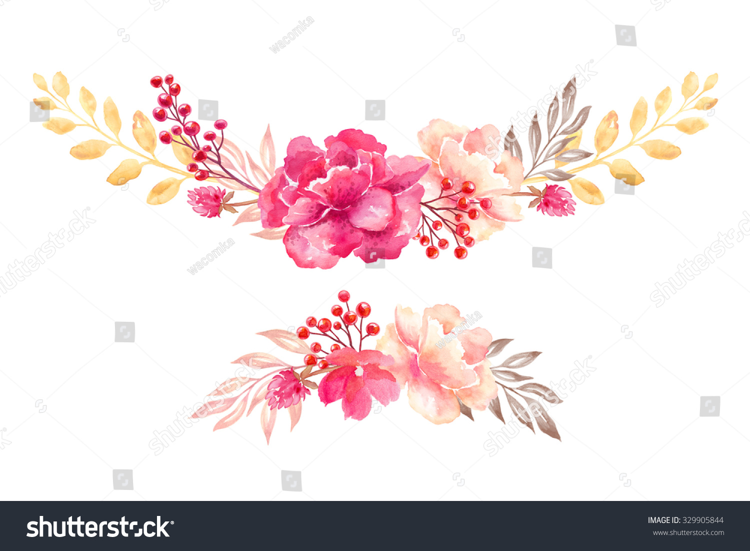 Royalty free stock illustration of floral arrangement flowers floral arrangement flowers bouquet design elements watercolor clip art isolated on white background izmirmasajfo