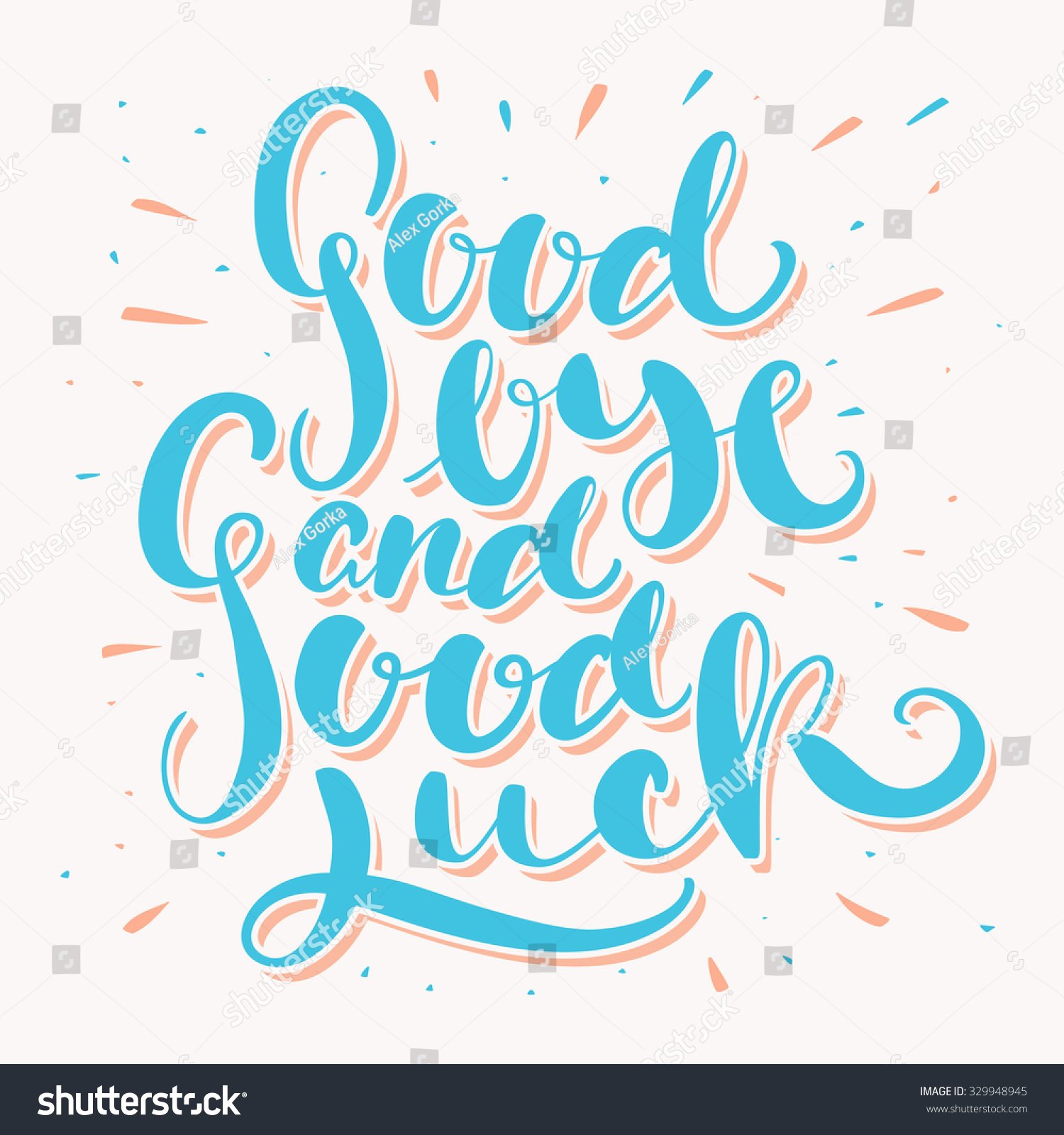 Goodbye And Good Luck. Stock Vector Illustration 329948945 ...