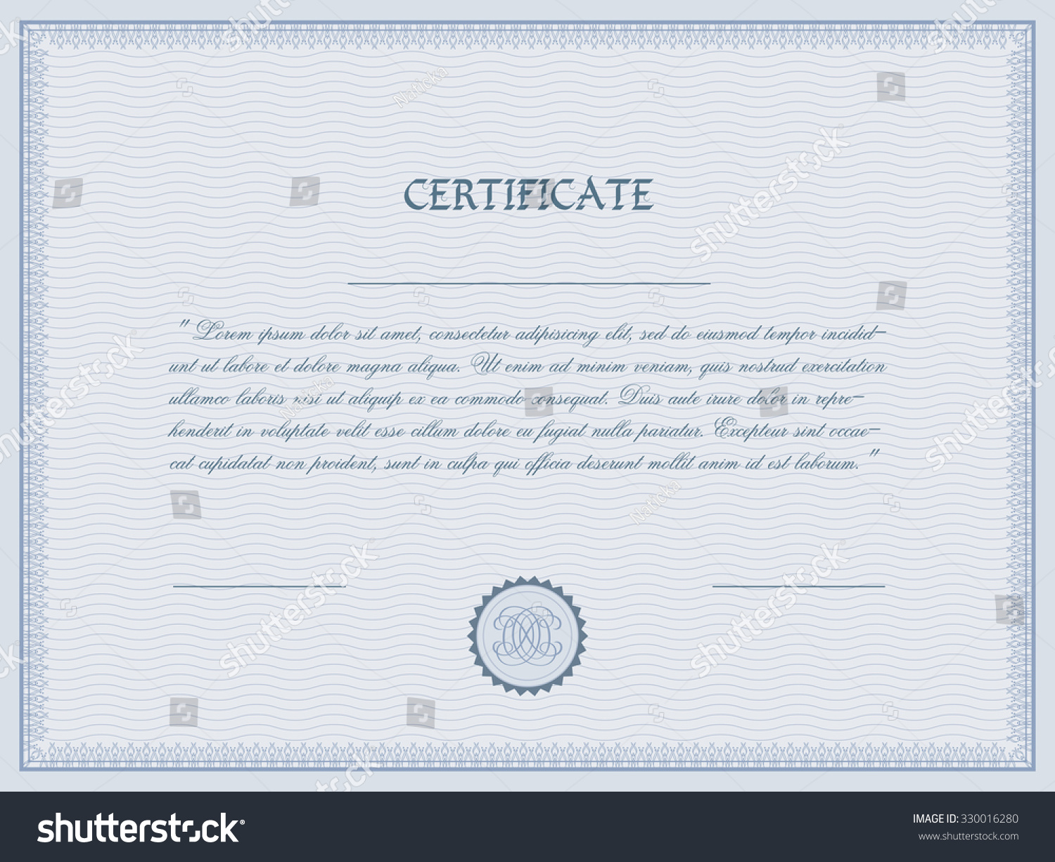 Certificate diploma template vector illustration stock vector certificate diploma template vector illustration yadclub Image collections