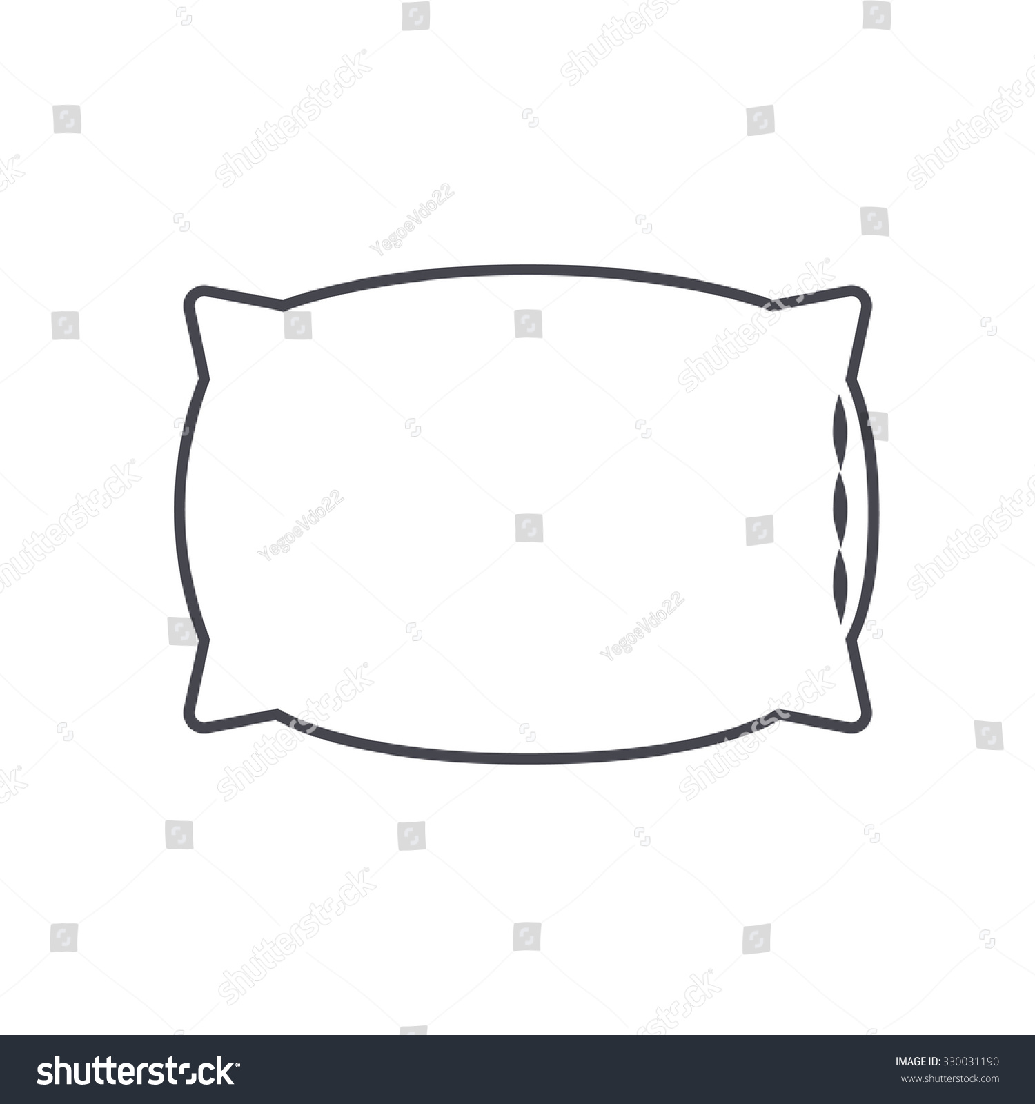 Pillow Icon Cushion Icon Stock Vector 330031190 Shutterstock