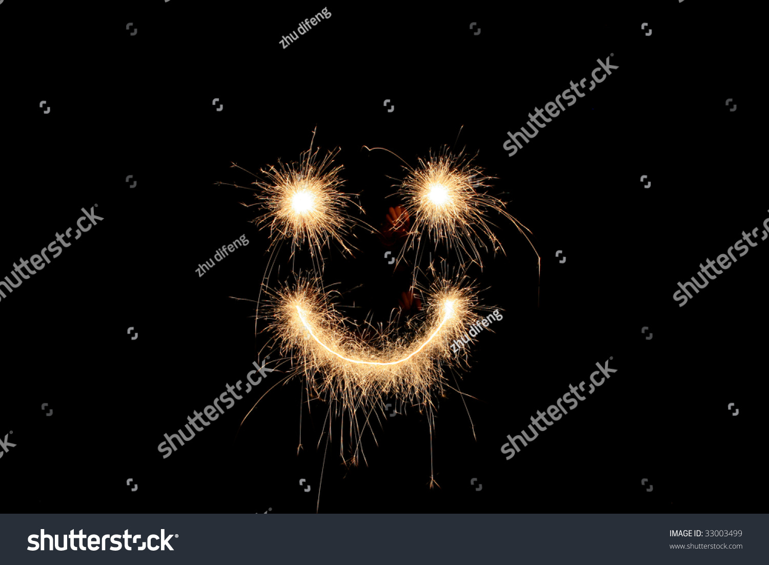 Sign draw with firework