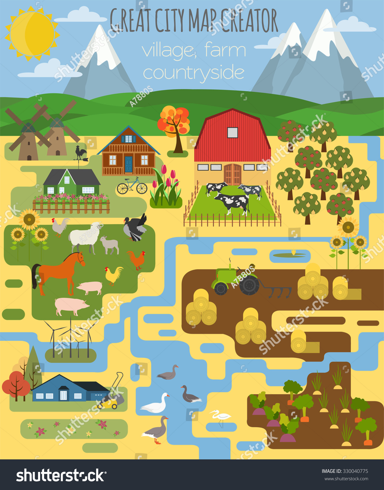 Great City Map Creator Village Farm Countryside