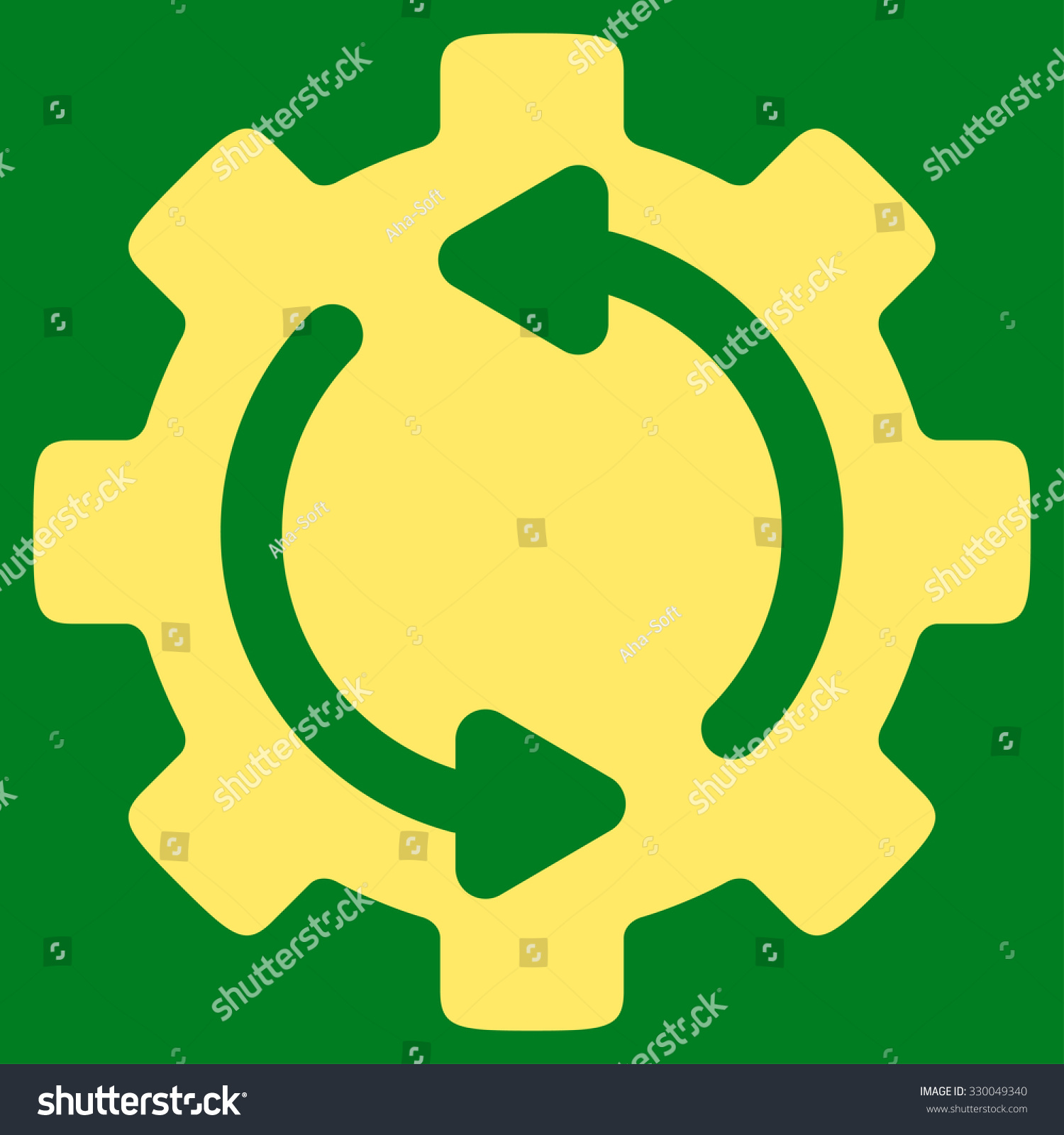 Refresh Engine Vector Icon Style Flat Stock Vector 330049340 ...