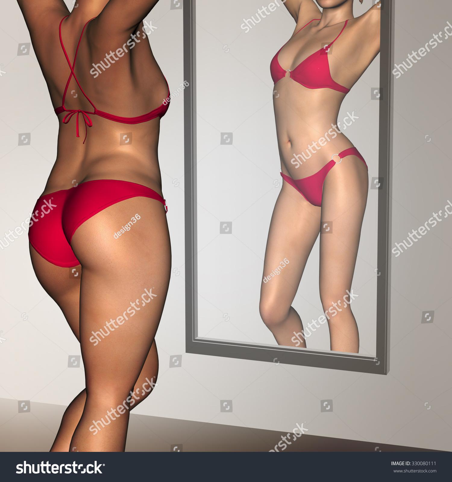 Skinny female body