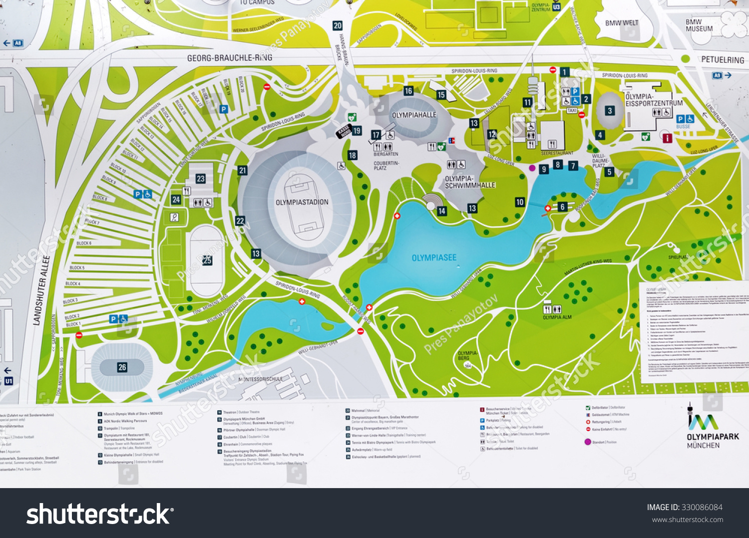 Munich Germany 4 August 2015 Map Stock Photo Royalty Free