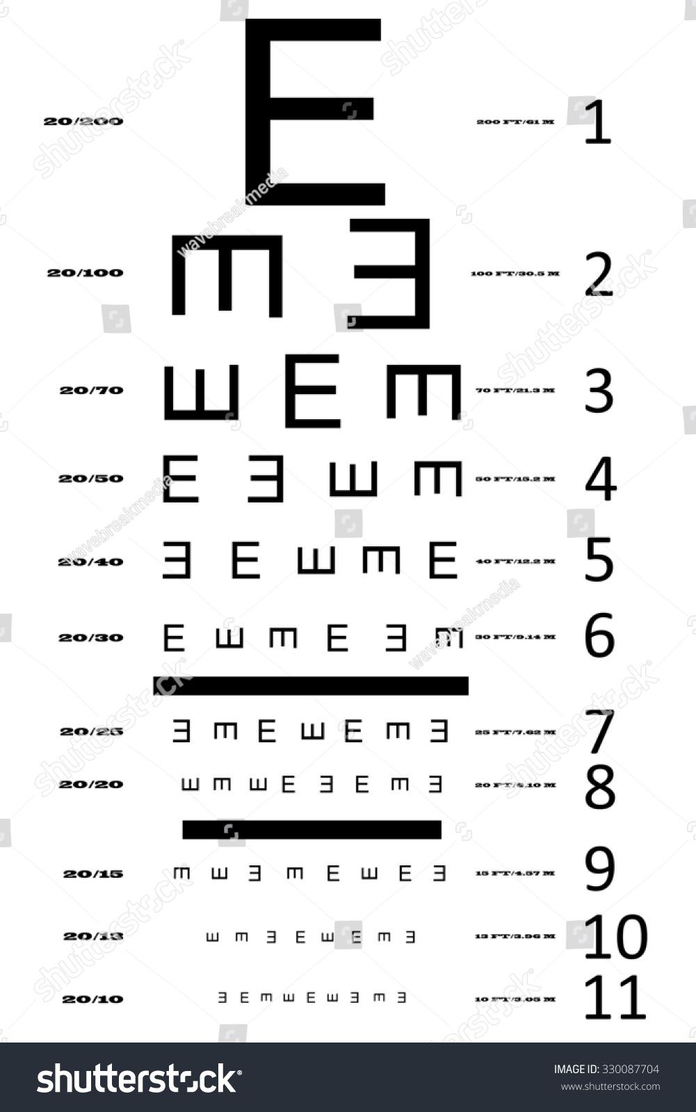 e19356a28c5 Royalty free stock illustration of eye sight test chart multiple jpg  1001x1600 Standard eye exam chart