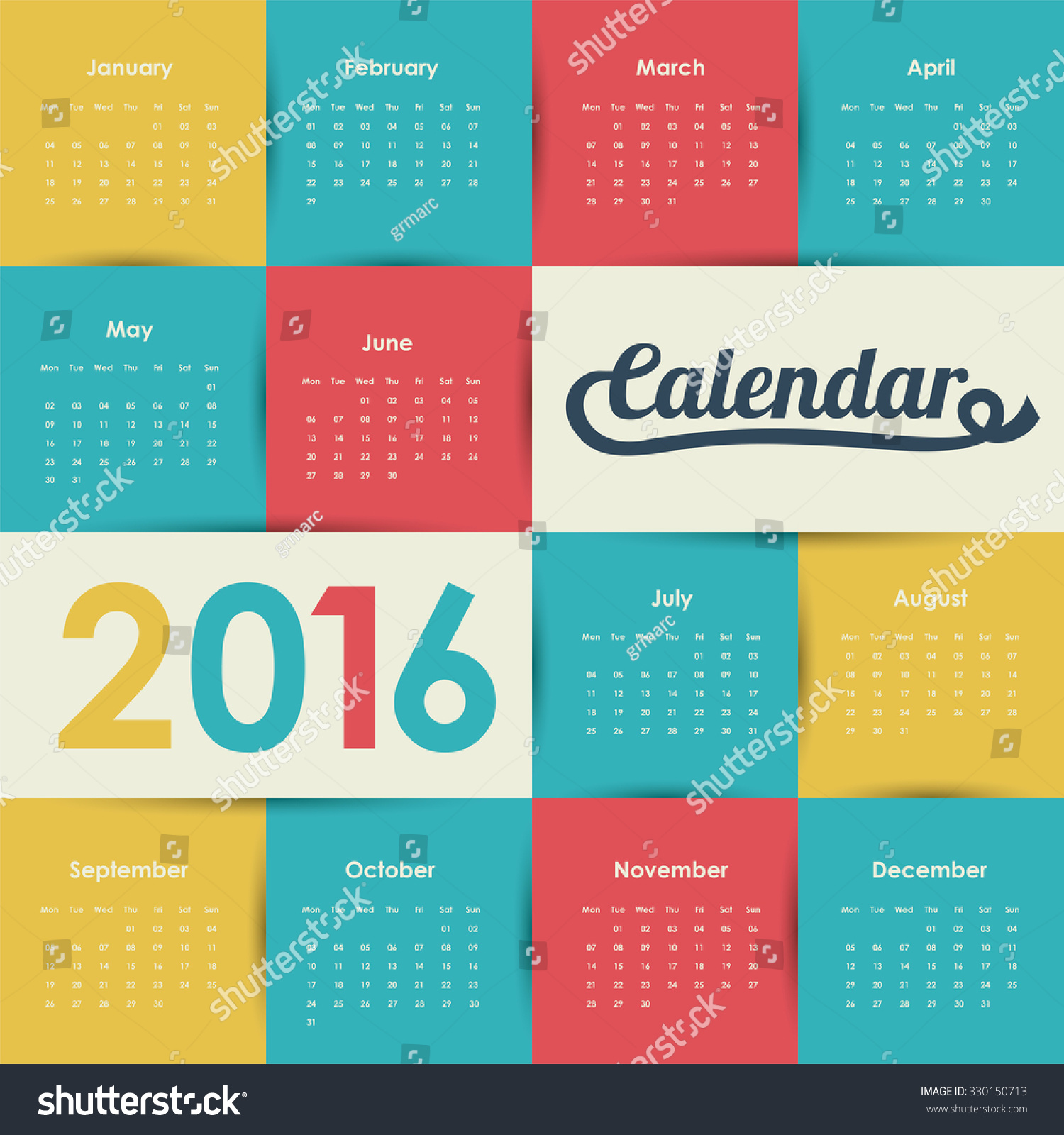 Illustration Calendar Design : Calendar year design vector illustration stock
