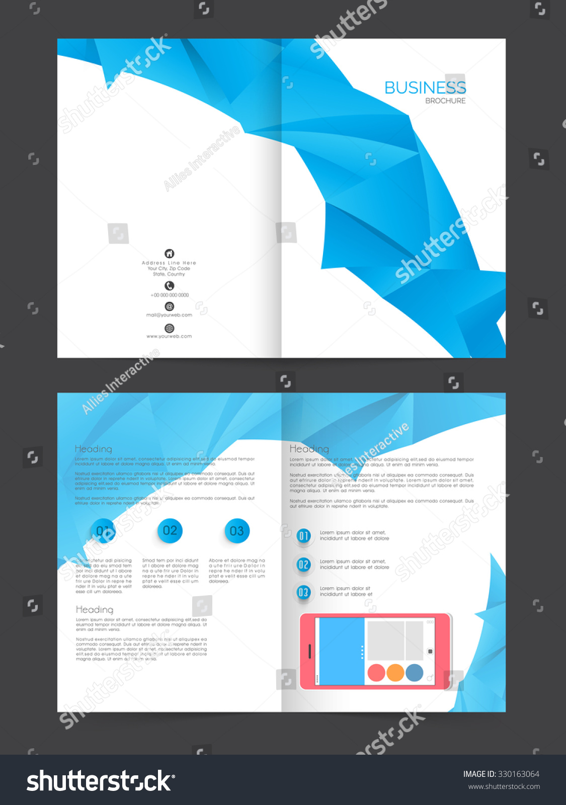 two page brochure template - two page presentation of professional business brochure