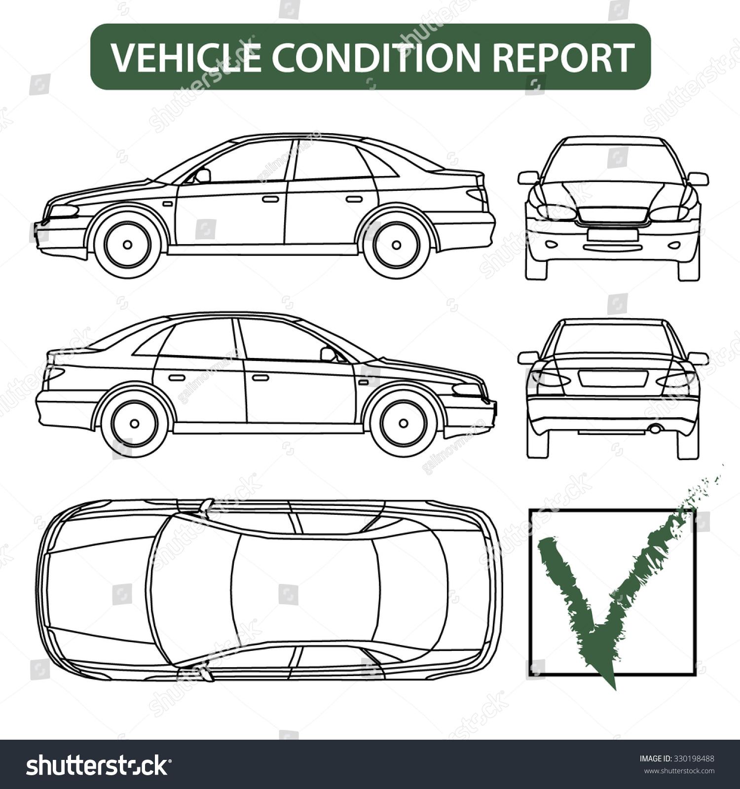 Car Condition Form Vehicle Checklist Auto Stock Vector 330198488 ...