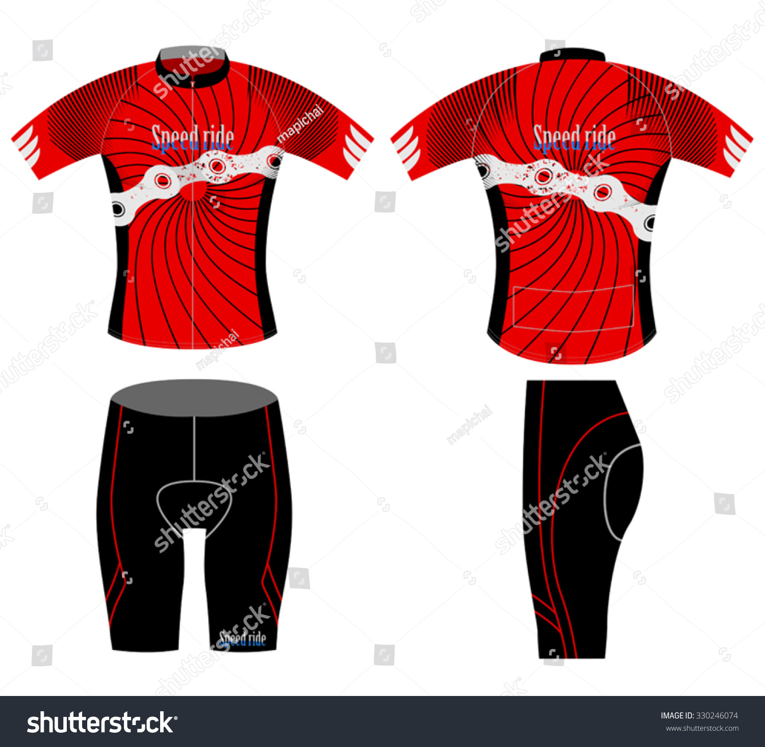 Speed ride sports tshirtcycling vest design stock vector for Stock t shirt designs