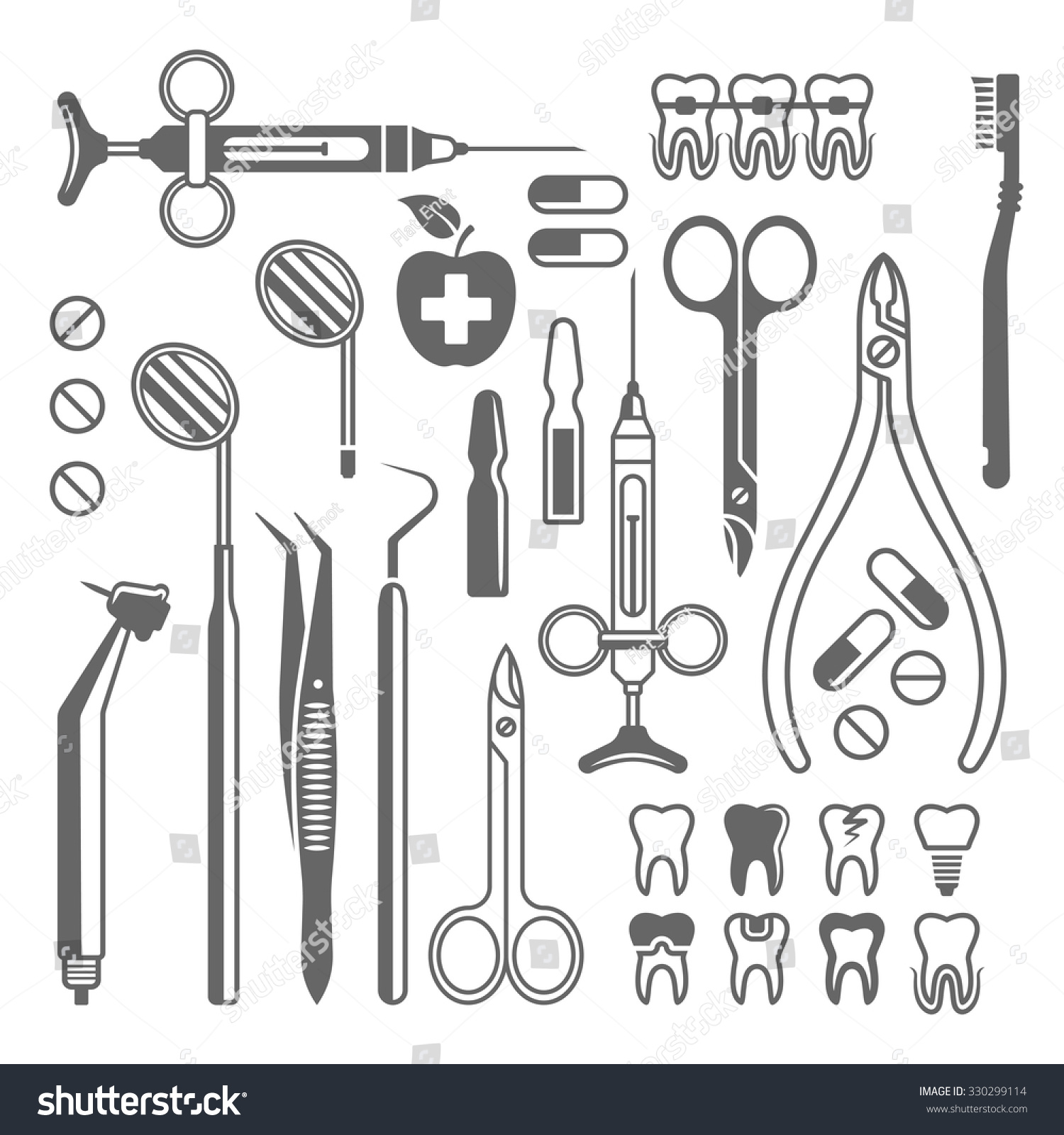 Dental Tools Medical Equipment Dentist Instruments Stock ...