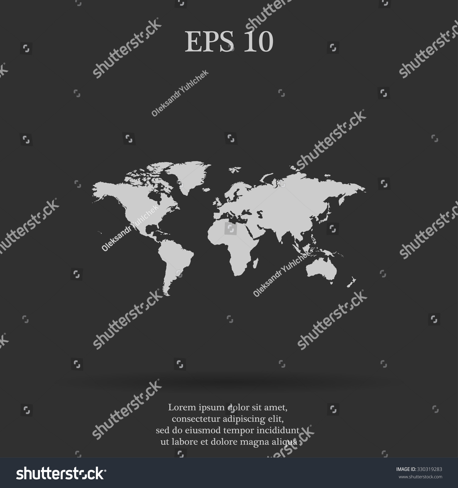 World map illustration flat design style stock vector 330319283 world map illustration flat design style eps 10 gumiabroncs Images