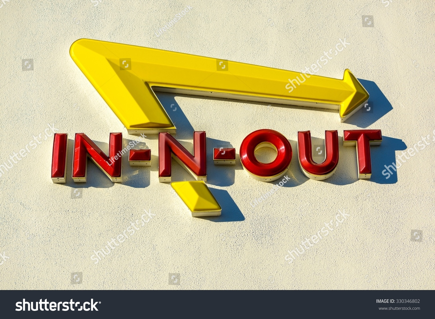 In N Out Burger Restaurant Sign February 2 Stock Photo Edit Now