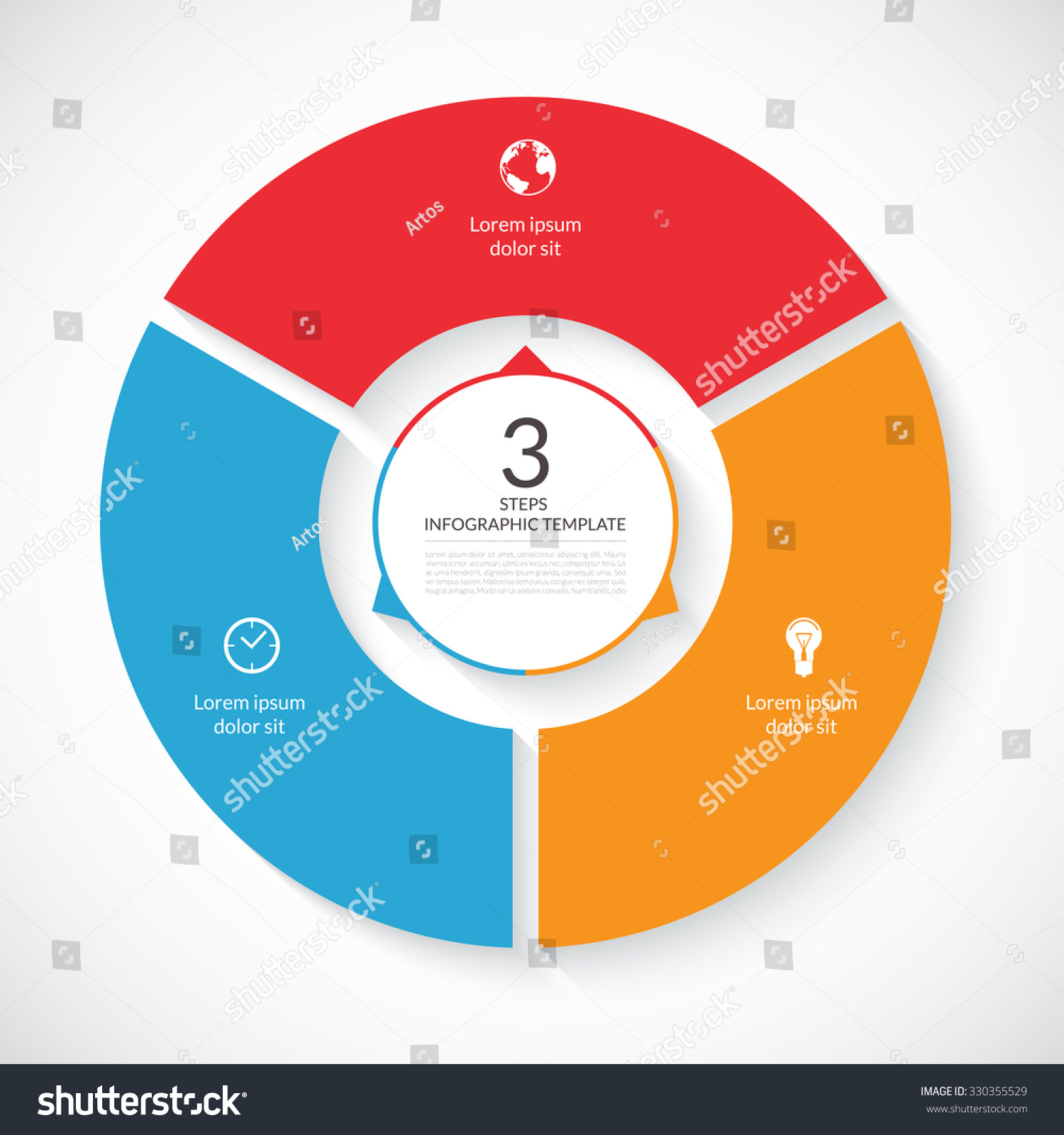 Vector Infographic Circle. Template For Graph, Cycling ...