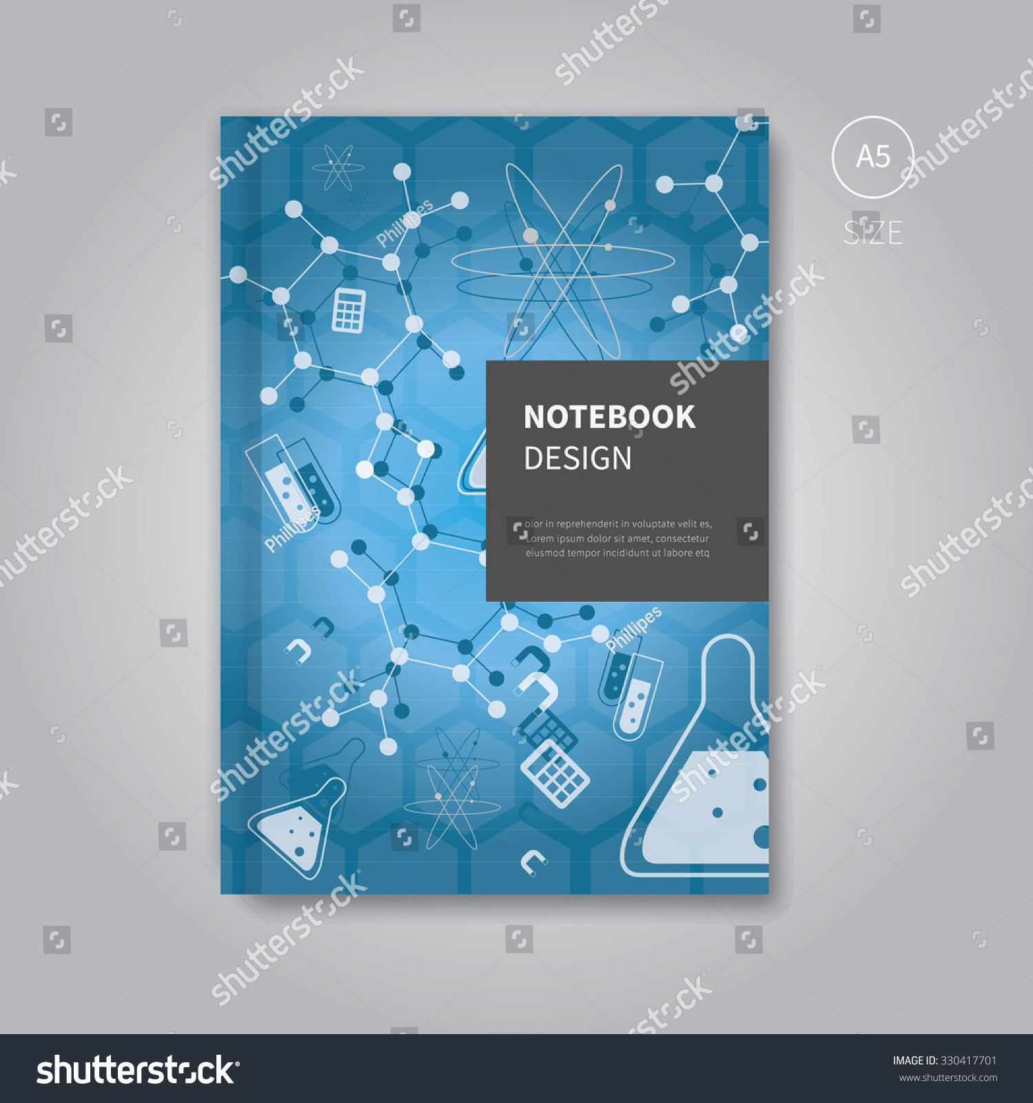 Science Book Cover Design Examples ~ Vector science writing pad brochure cover stock