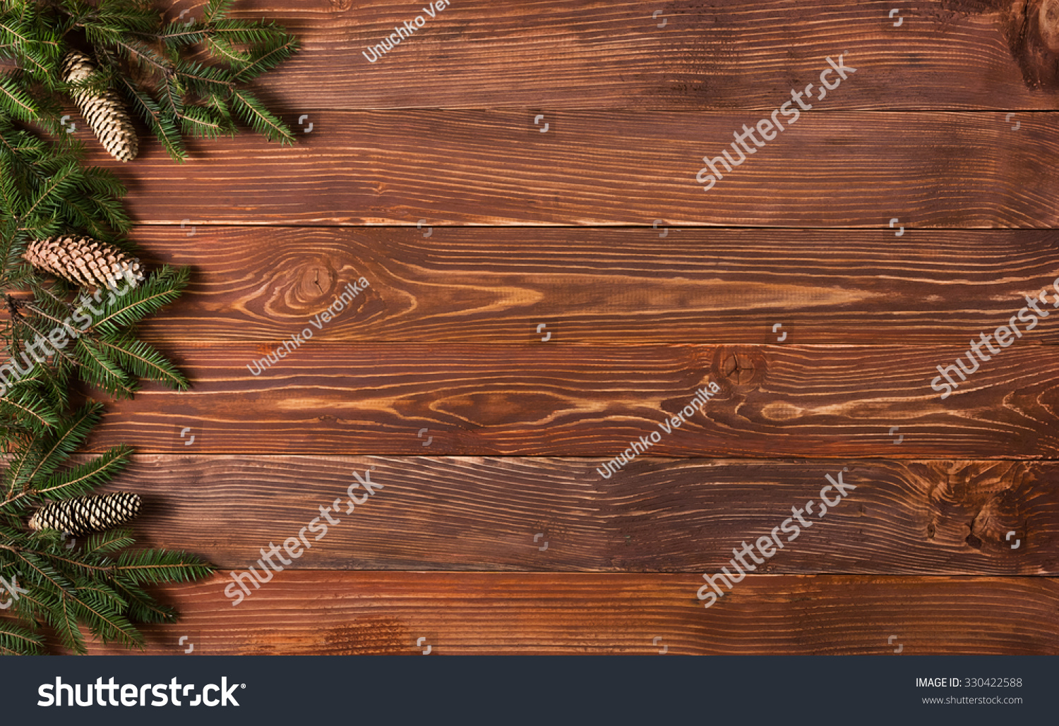 Christmas Rustic Background Vintage Planked Wood Stock Photo ...