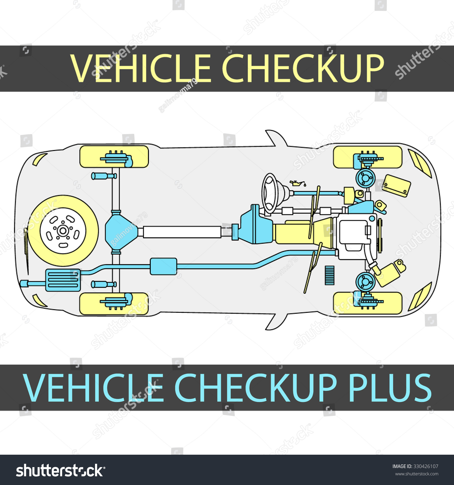 Vehicle Check Up Inspection Diagramm CAR Stock Vector 330426107 ...
