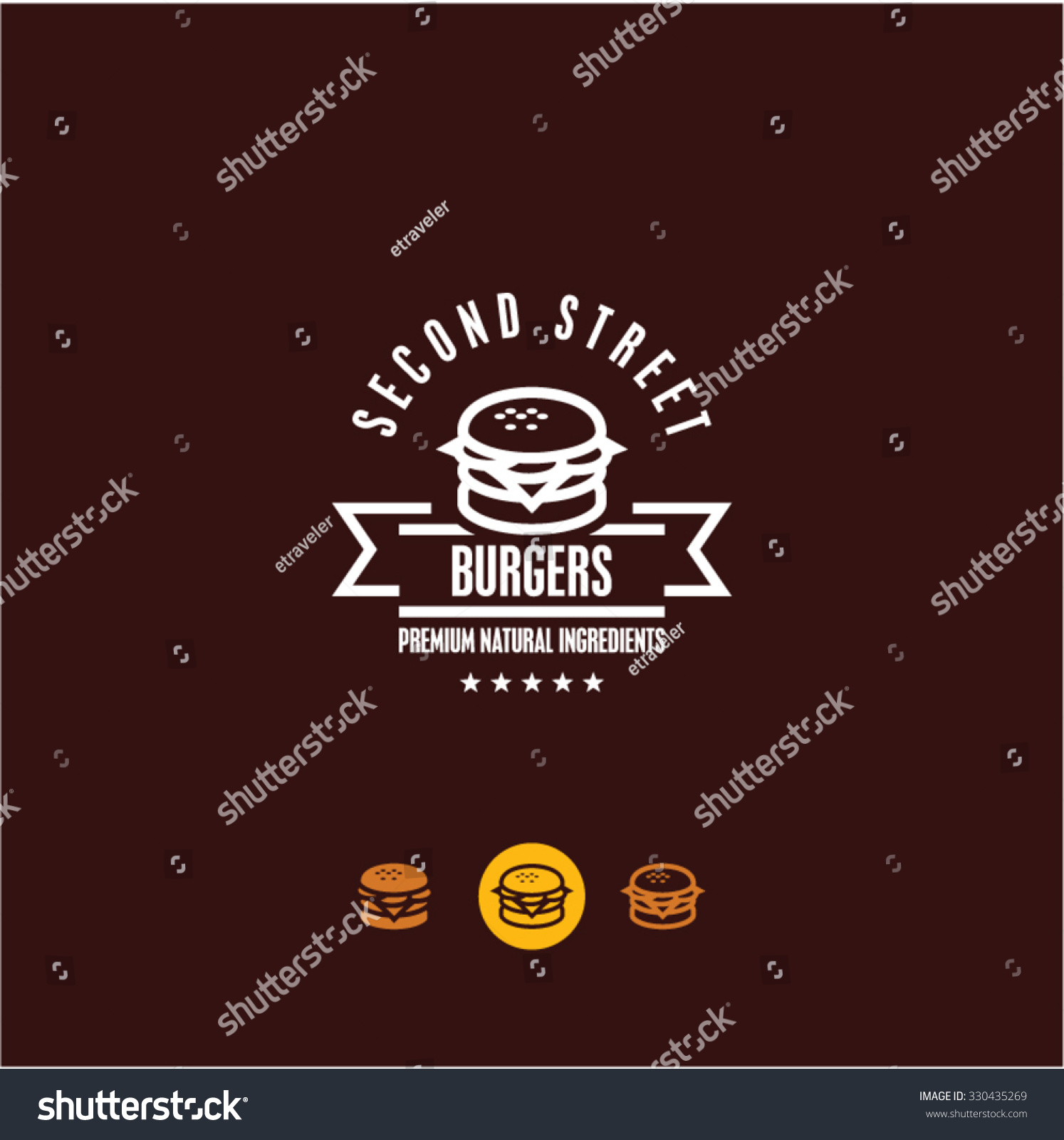 burger logo burger icon fast food snacks