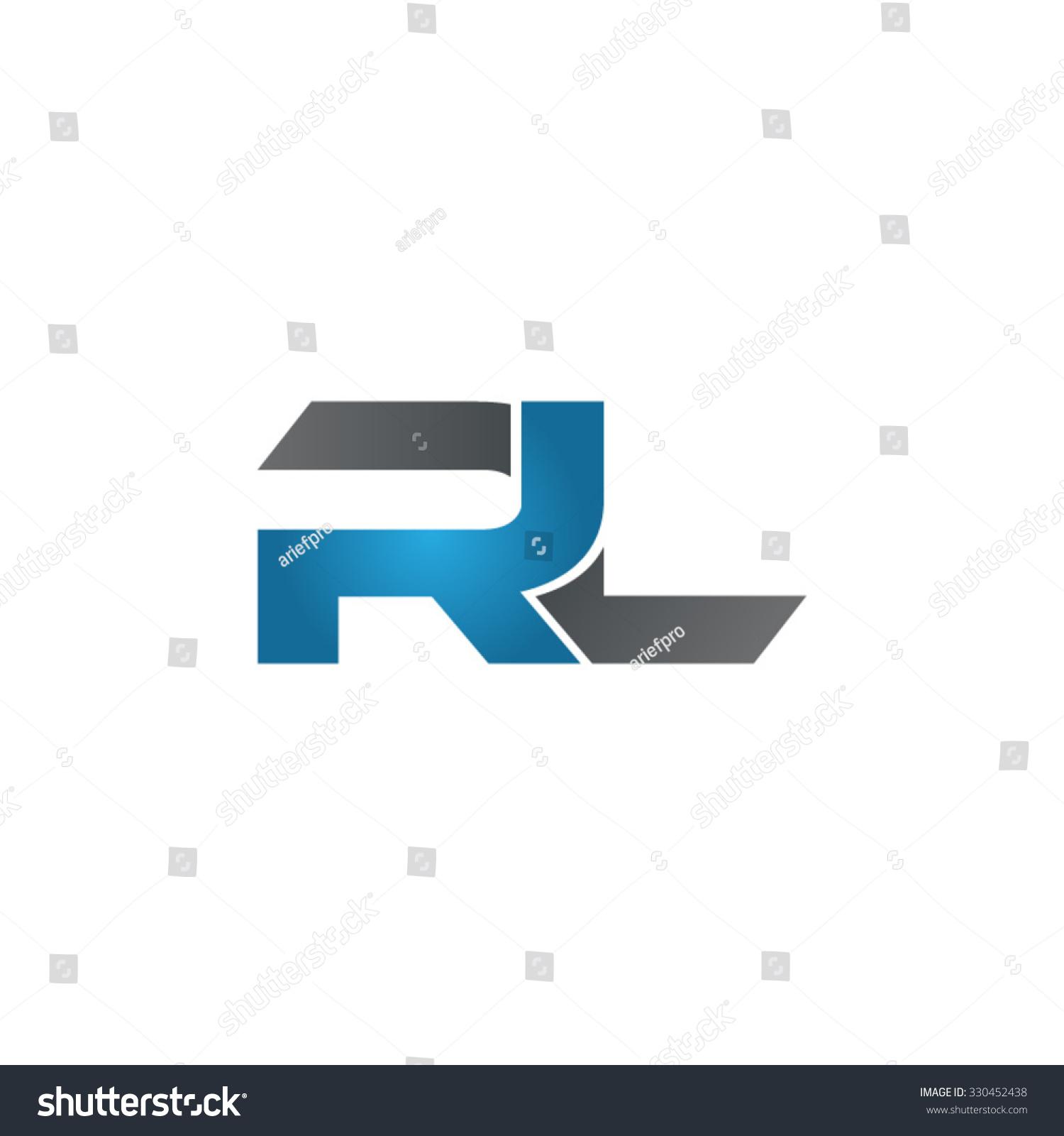 Tj initial luxury ornament monogram logo stock vector - Rl Company Linked Letter Logo Blue