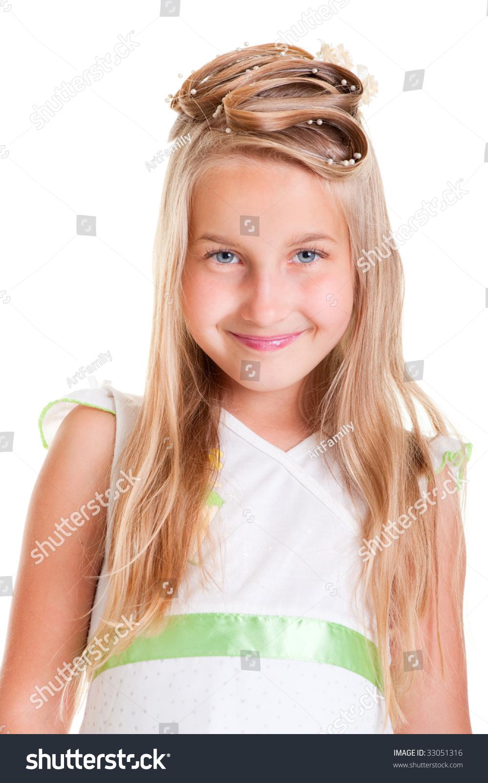 Portrait Of Smiley Gir...