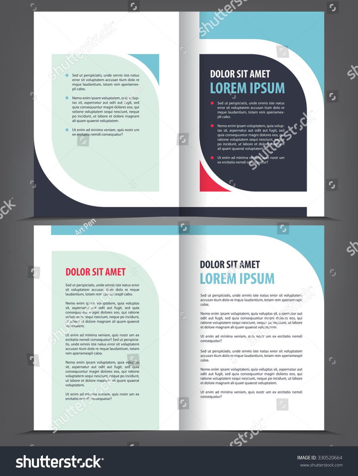 brochure booklet templates - vector empty bifold brochure print template stock vector