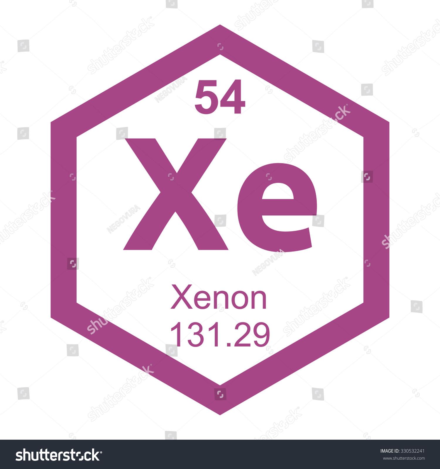 Xenon Periodic Table Periodic Table Xenon E...