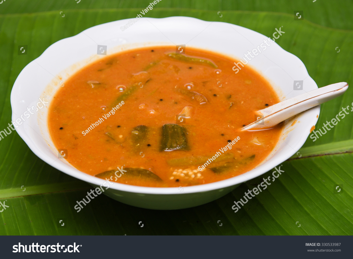 Sambar Is Popular South Indian Curry/ Dish With Lentil And