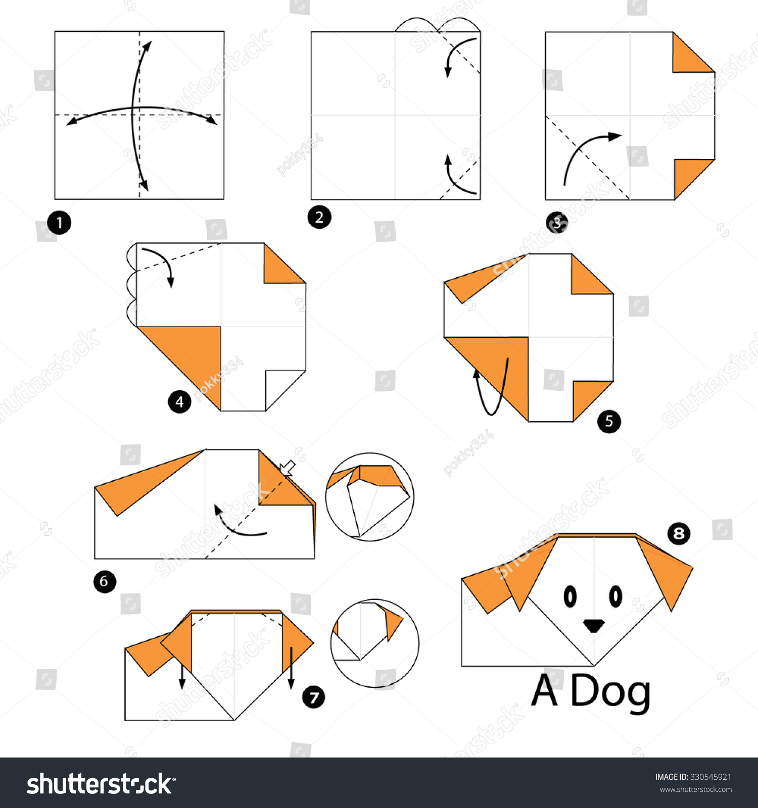 Step By Step Instructions How Make Stock Vector 330545921 ... - photo#19