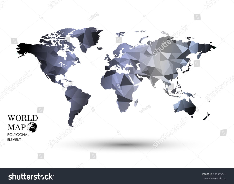 Polygonal world map vector stock vector 330565541 shutterstock polygonal world map vector gumiabroncs Choice Image