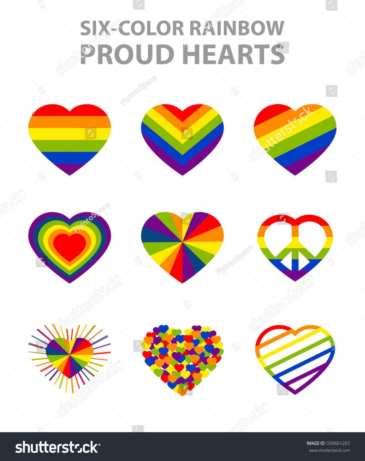 Sixcolor Rainbow Lgbt Symbols Pride Freedom Stock Vector Royalty
